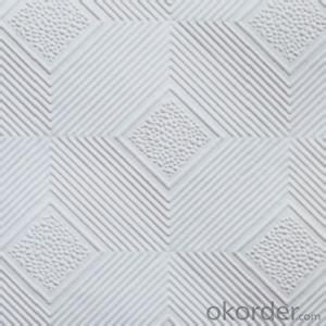 PVC Faced Gypsum Board Ceiling Tiles