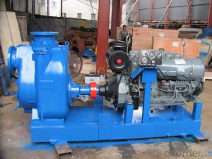 Self priming 8 inch Centrifugal sewage diesel pump with trailer