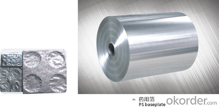 Aluminum foil for use blister