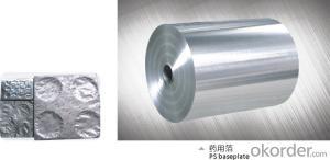 Aluminum foil for use blister