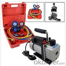 Rotary Vane Vacuum Pump + R134A Diagnostic Testing Charging Manifold