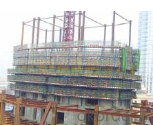 Auto-Hydraulic climbing formwork used in river bridge 2
