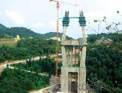 Auto-Hydraulic climbing formwork for river bridge