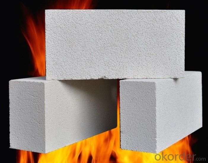 Hot blast stove with low creep series high alumina brick