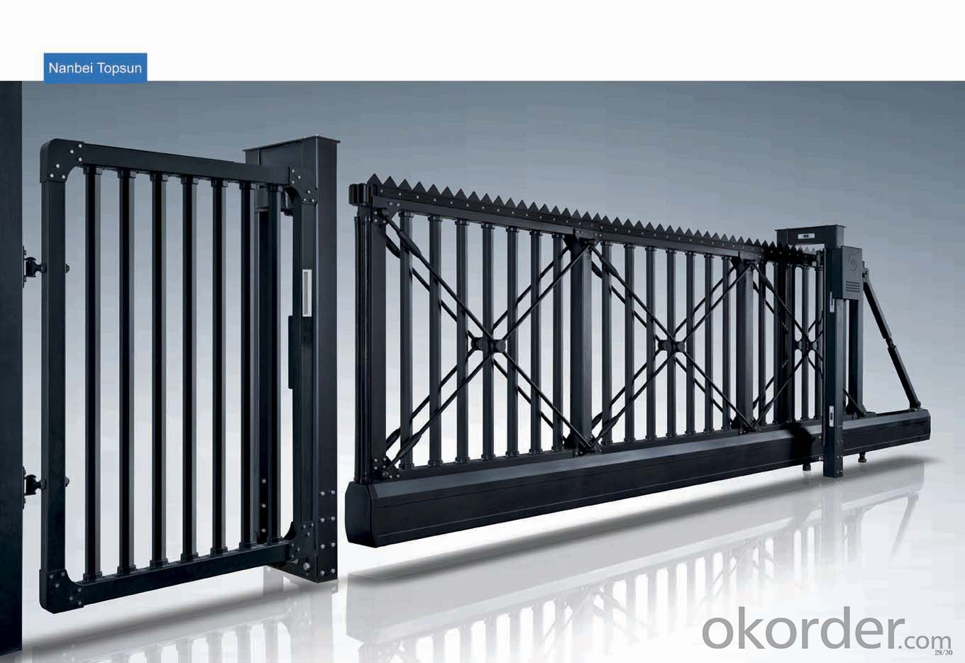 Automatic collapsible door casting aluminium gate