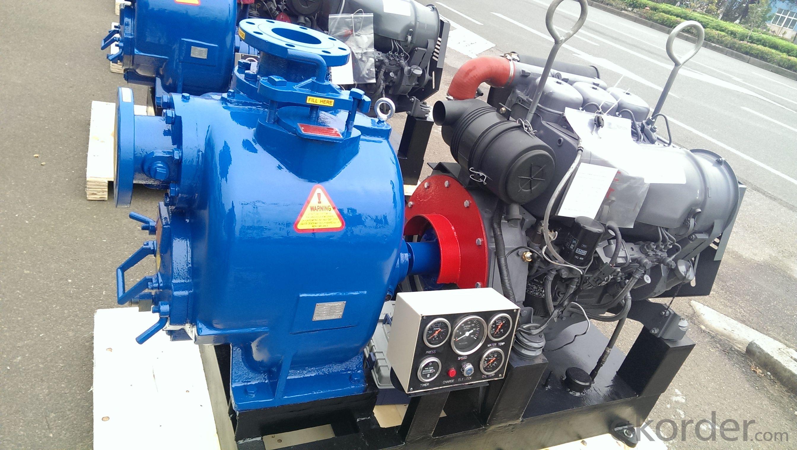 Self priming beinei diesel engine sewage waste trash water pump