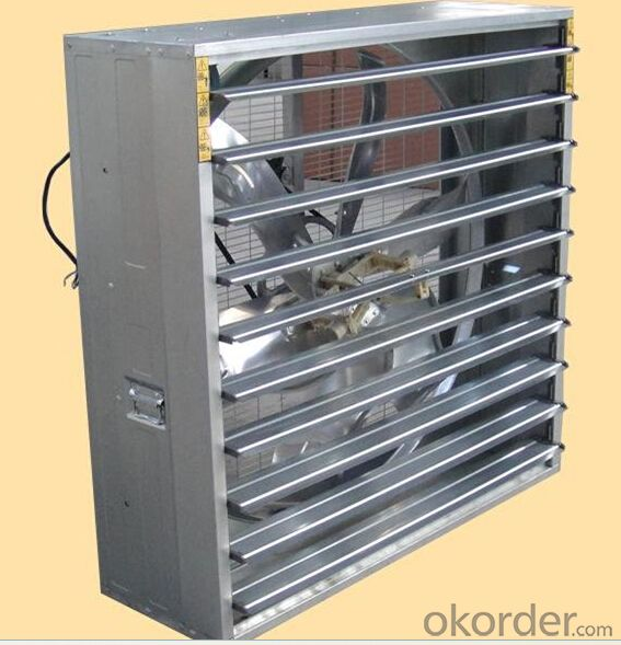 Poultry house hanging exhaust fan