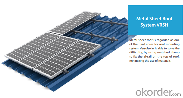 roof mount PV racks system