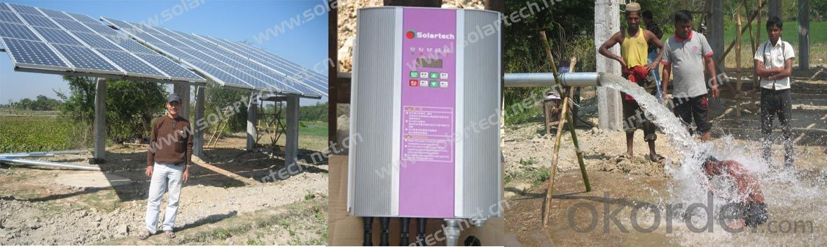 AC Solar Water Pump System Used for Irrigation