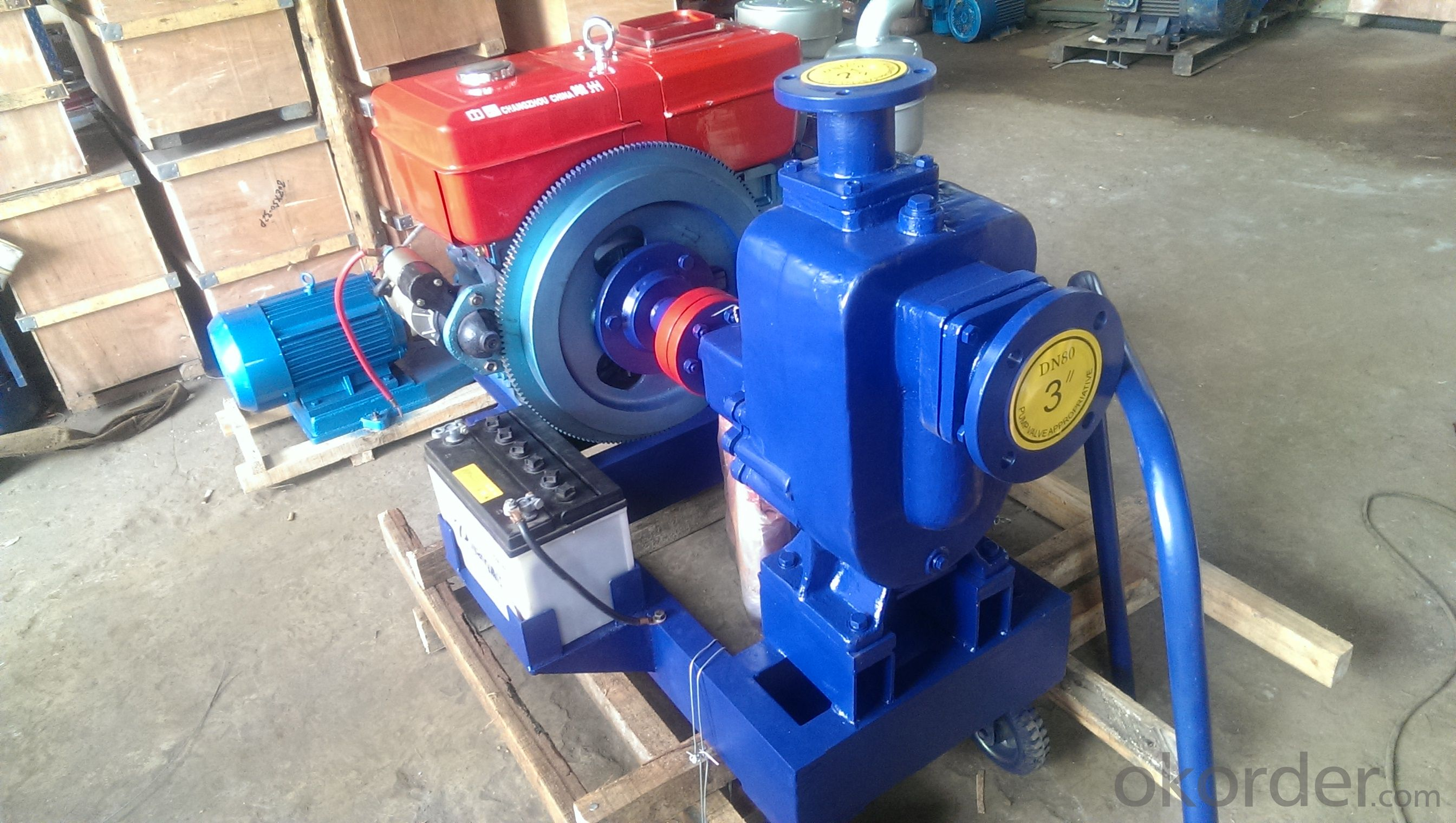 ZW Type self priming centrifugal Sewage pump with diesel engine
