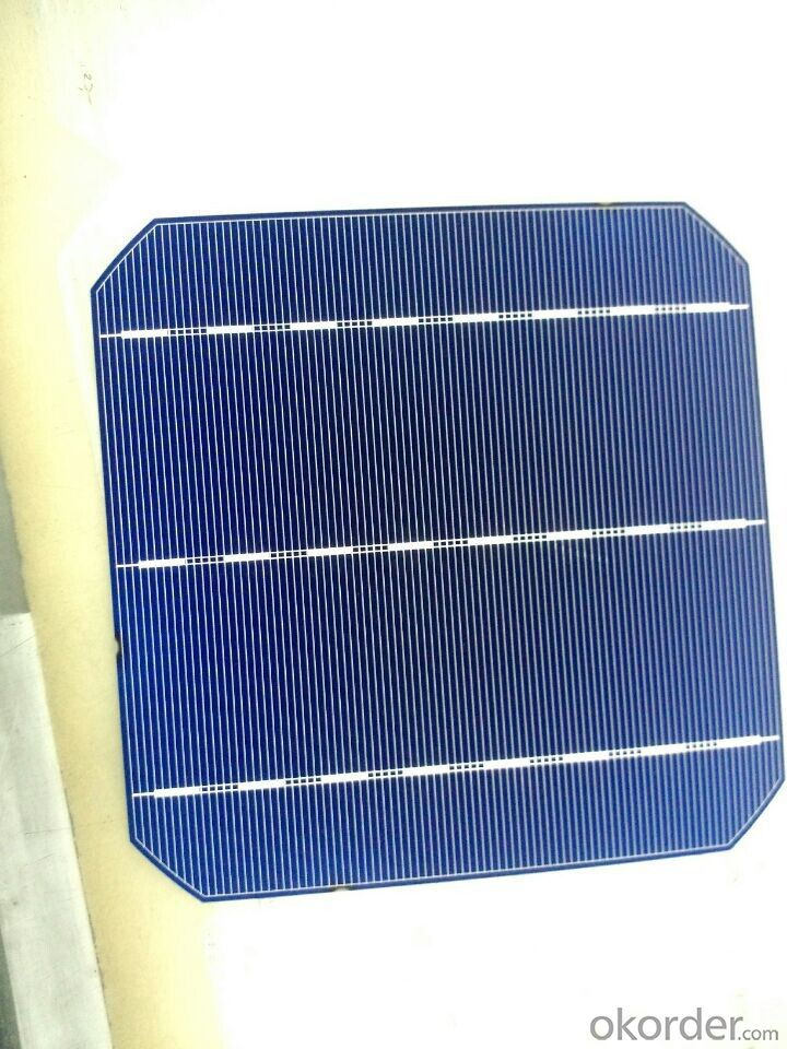 156*156MM MONOCRYSTAL SOLAR CELL WITH 4.67 WATT HIGH EFFICIENCY