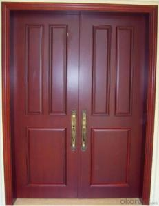 WOODEN FIREPROOF  DOOR WITH DIFFERENT DESIGN