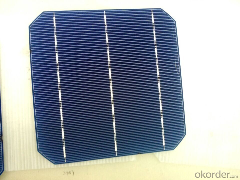 156*156MM MONOCRYSTAL SOLAR CELL WITH 4.65 WATT HIGH EFFICIENCY
