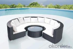 Round sofa Garden furniture chesterfield