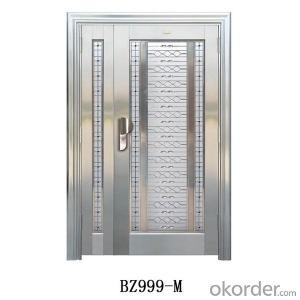 High quality single leaf entry steel security door