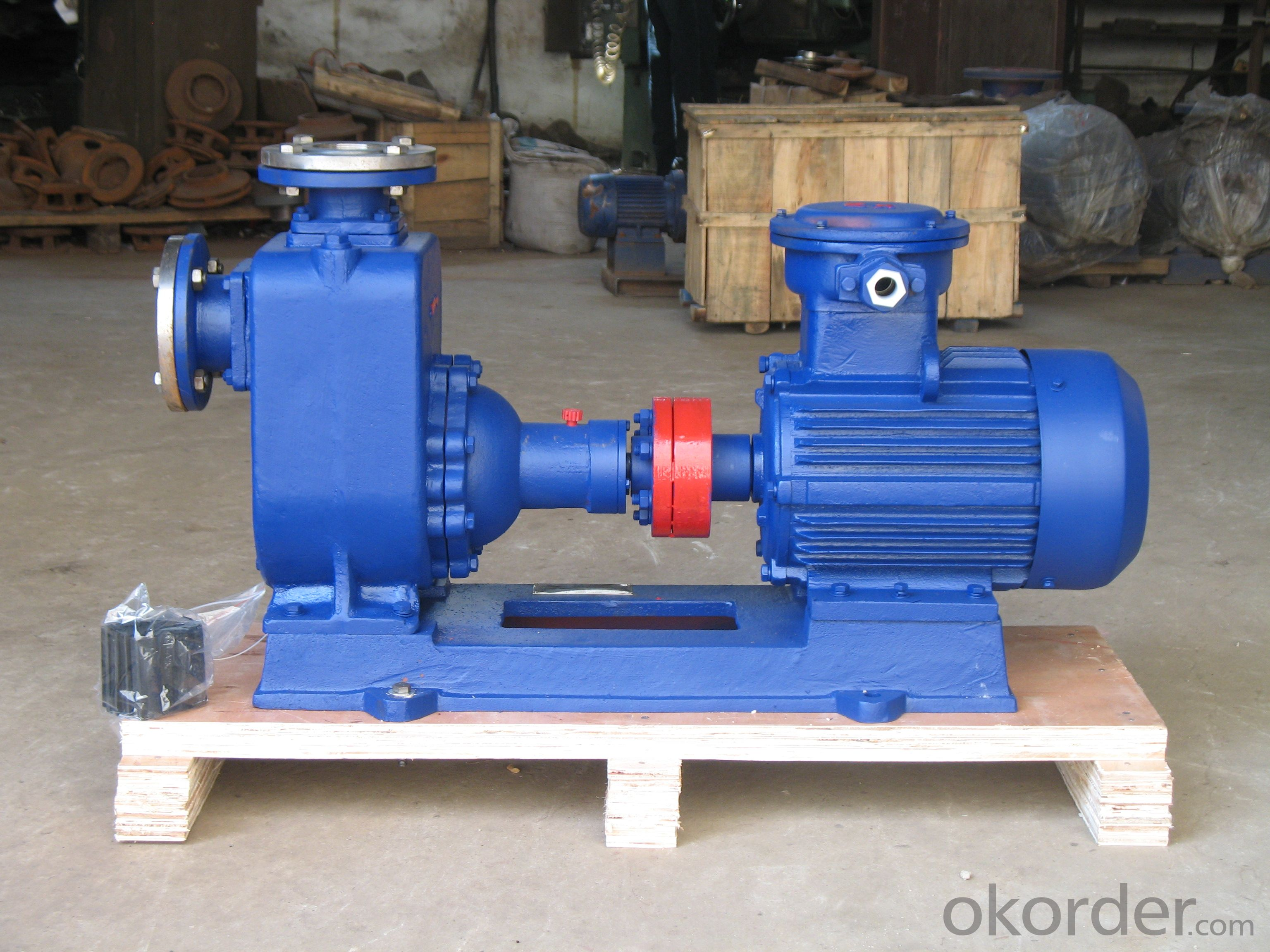 ZX Type self priming centrifugal cast iron material EX-Proof motor pump