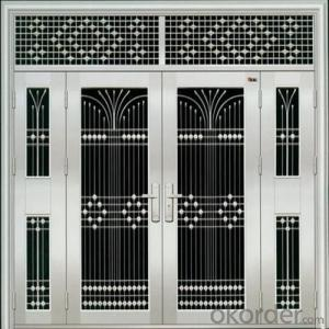 high quality entry steel depolished surface door for sale