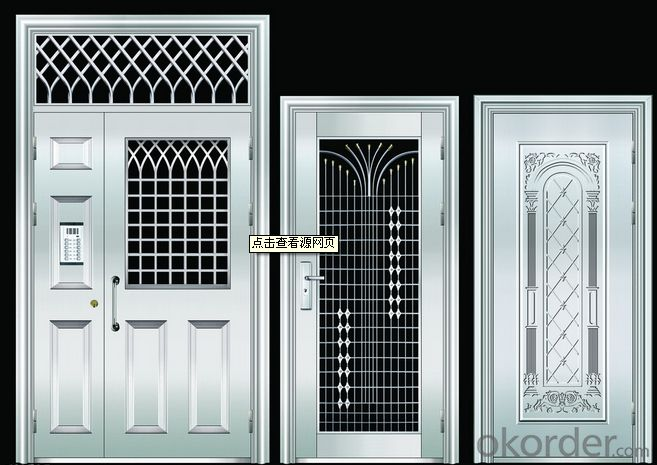 Exterior weather tight iron metal steel security door