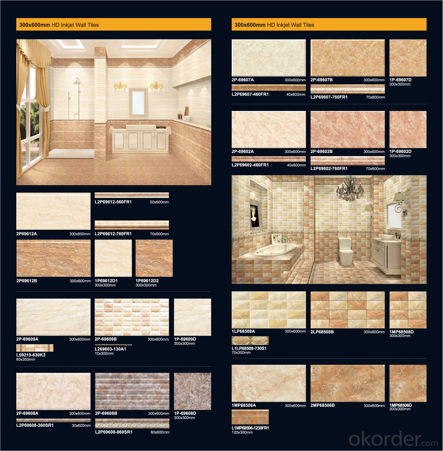 Wholesale Bathroom Wall and Floor Tiles from China