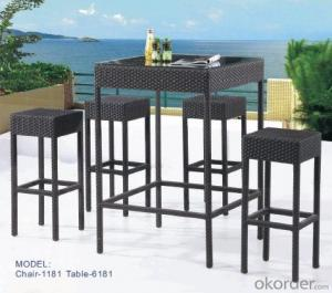 Mini rattan bar chair