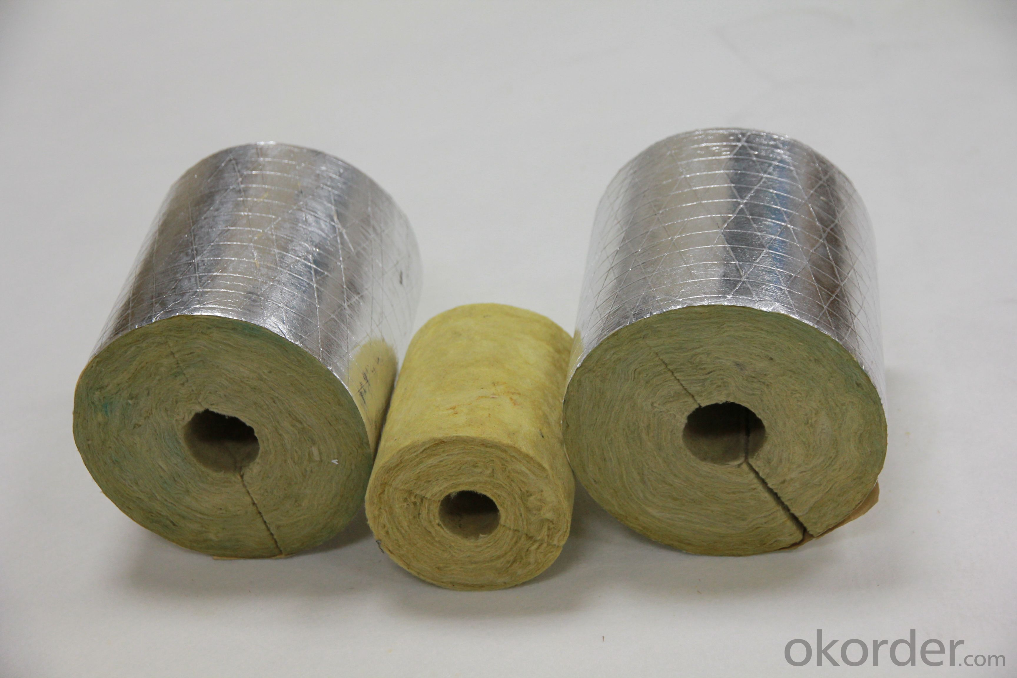 Glass Wool Pipe with Alu Foil faced of good Quality