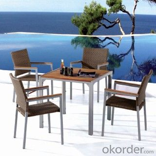 Garden furniture wood of hotel wooden furniture dining/cafe set