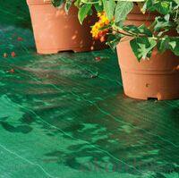 Green PP woven weed mat