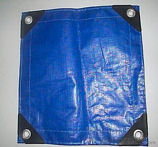 Waterproof blue tarpaulin fabric