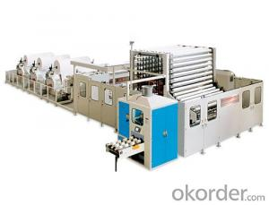 YD-PL350C Non-stop Toilet Roll Rewinding Line