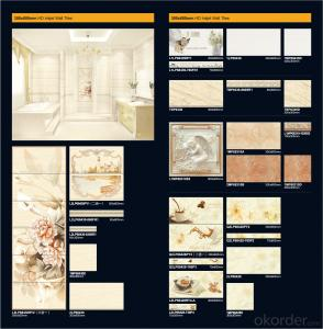 Various Size and Colors Ceramic Wall and Floor Tiles for Bathroom