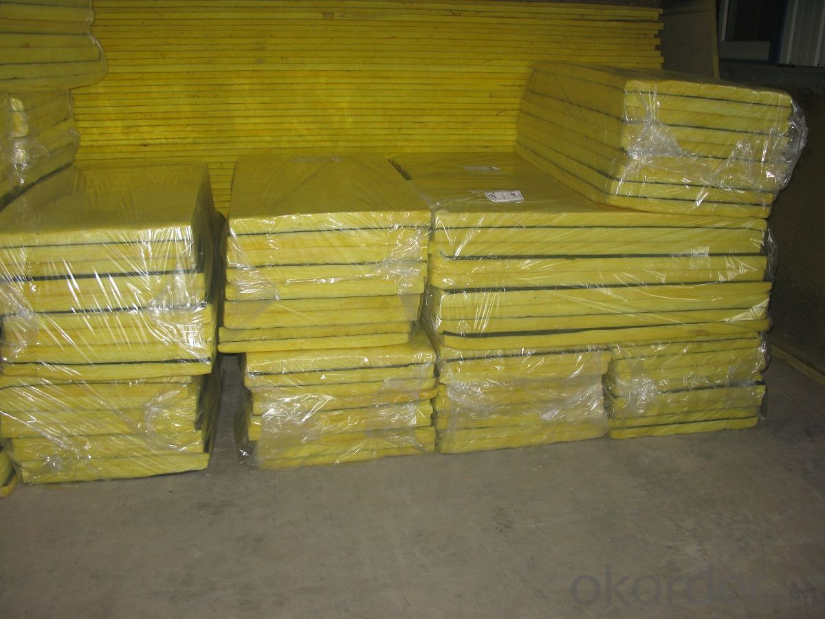 Glass Wool Board faced with good Quality black Tissue