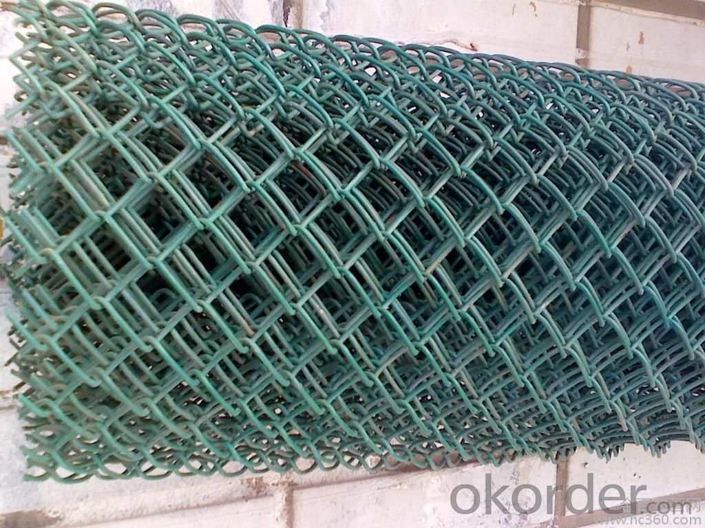 PVC Coated Chain Link  Fence  With Hot Dipped Galvanized Wire Inside