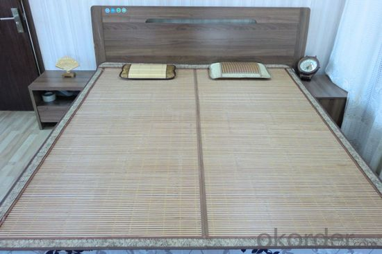 Light Color Natural Bamboo Bed Used in Bedroom