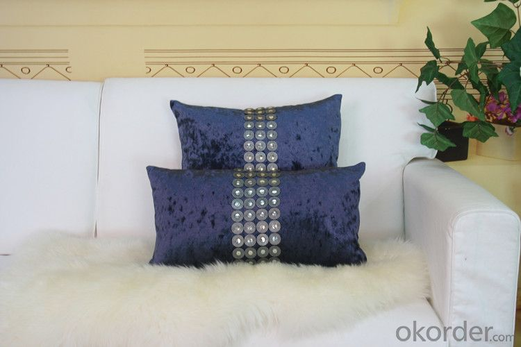 Blue Color Cotton Pillow Case