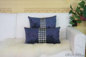 Cotton Pillow Case With Polyester Inside Pillow