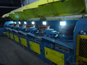 Straight type stainless steel wire draw machine