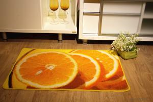 Orange Pattern Nylon Printed Carpet with Latex Back