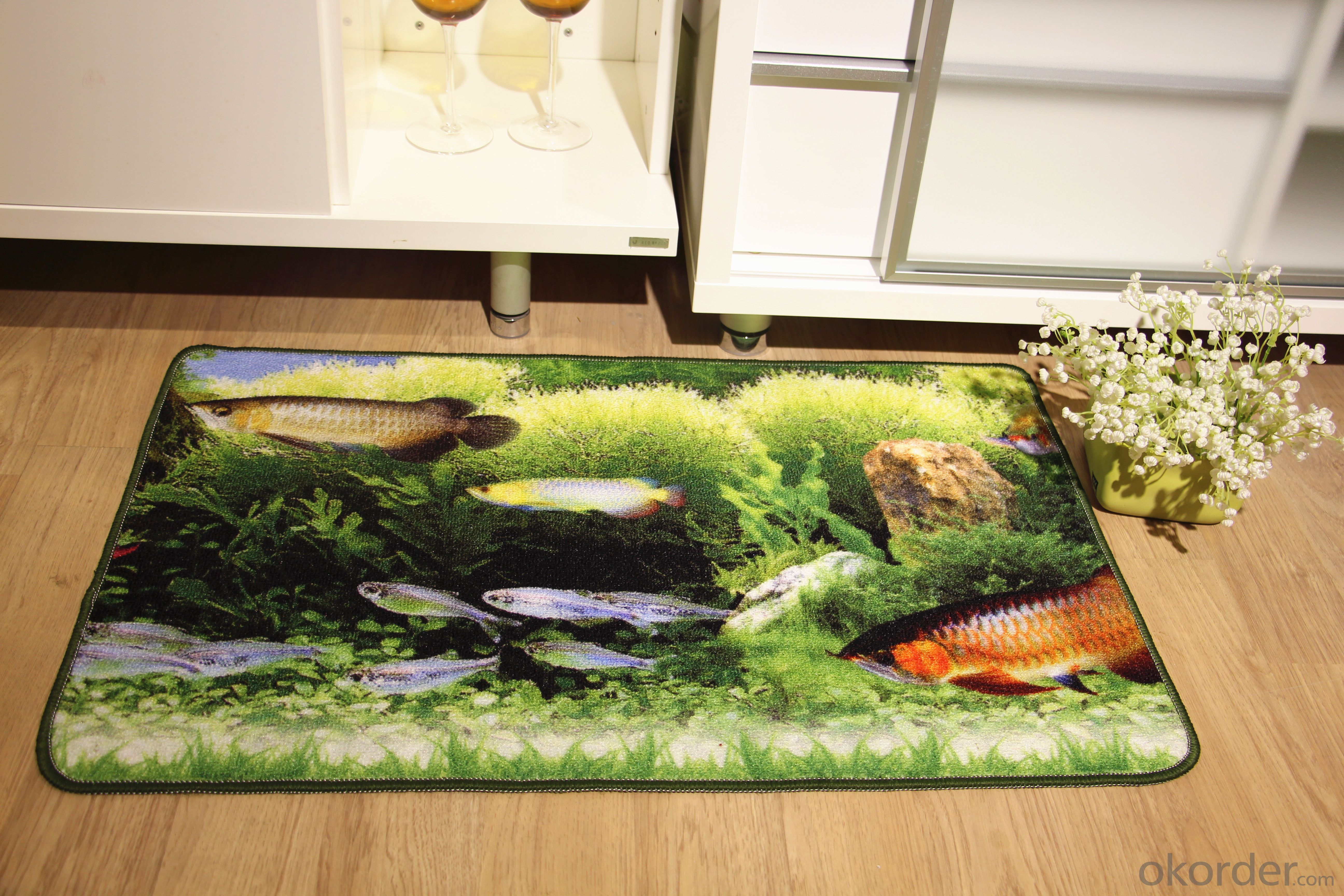 Hot Sale Customed Colorful  Pattern Nylon Printed Carpet