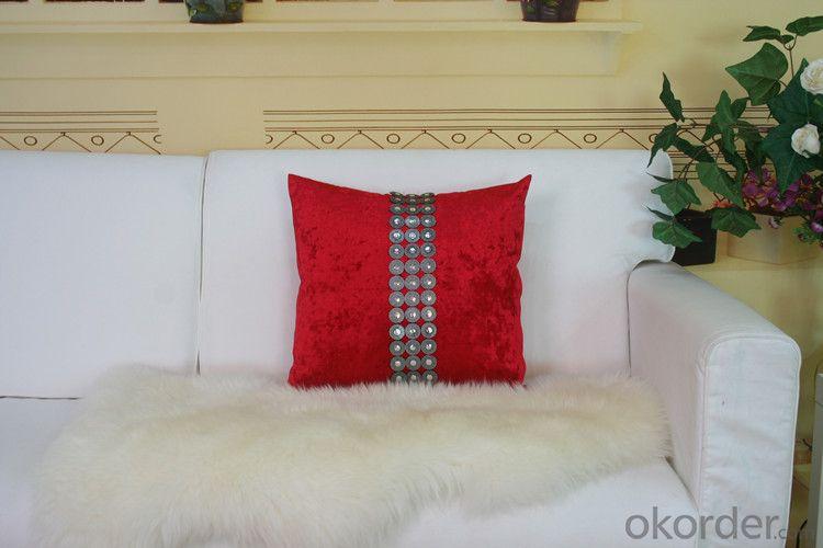 Red Color Cotton Pillow Case