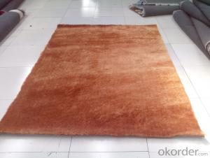 High Quality Brown Color Hand Tufted 150 Viscose Polyester Shaggy Carpet