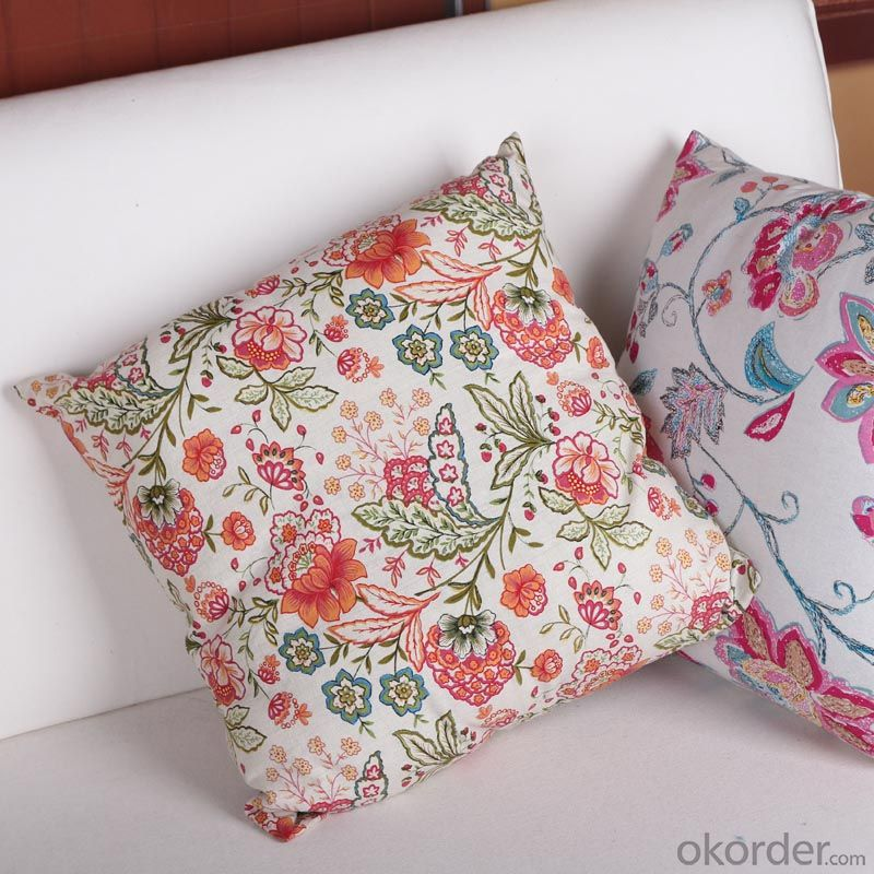 Wholesale Cotton Fabric Printed Pillow Case 18