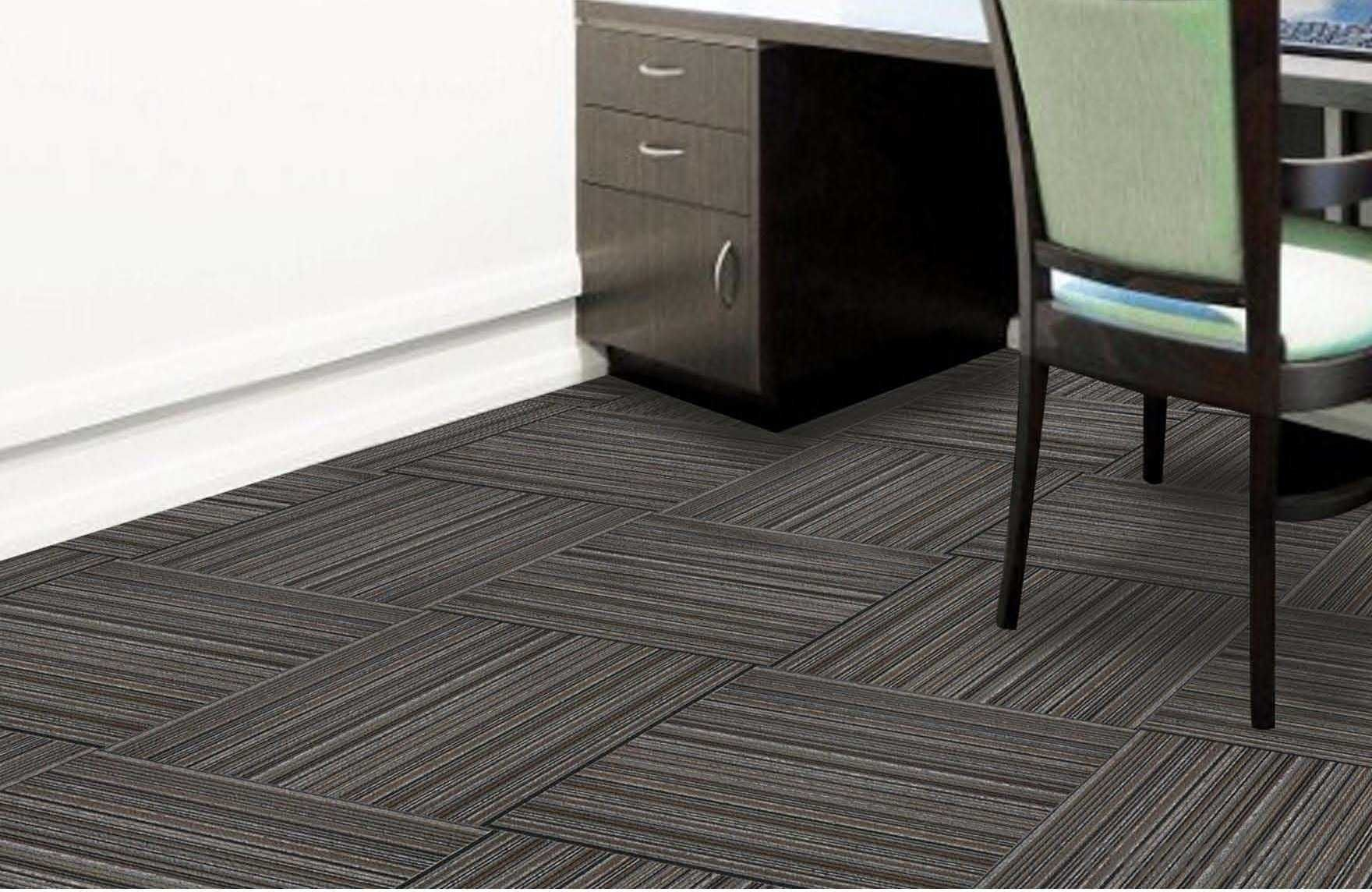 Olefin solution dyed carpet Tiles