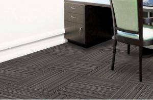 Olefin solution dyed carpet Tiles