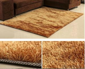 Hot Sale Polyester Shaggy  Rug With Yellow Color