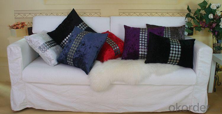 Black Color Cotton Pillow Cover