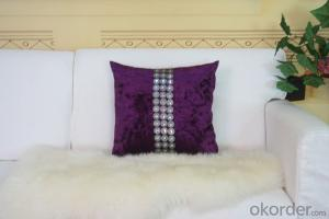 Purple Color Cotton Pillow Case