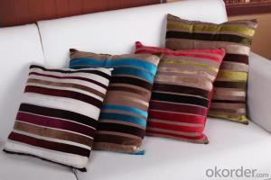 Stripe Pattern Cotton Fabric Printed Pillow Case