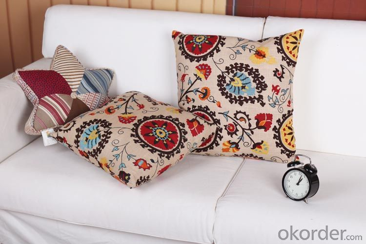 One Side Flower Printed Pillow Case