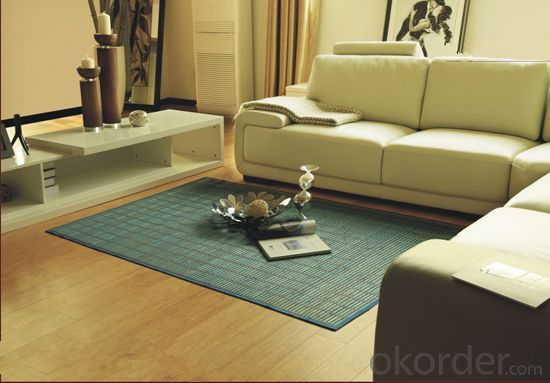 Good Quality Green Color Bamboo Carpet  Used in Table