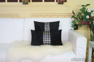 Black Color Cotton Pillow Cover